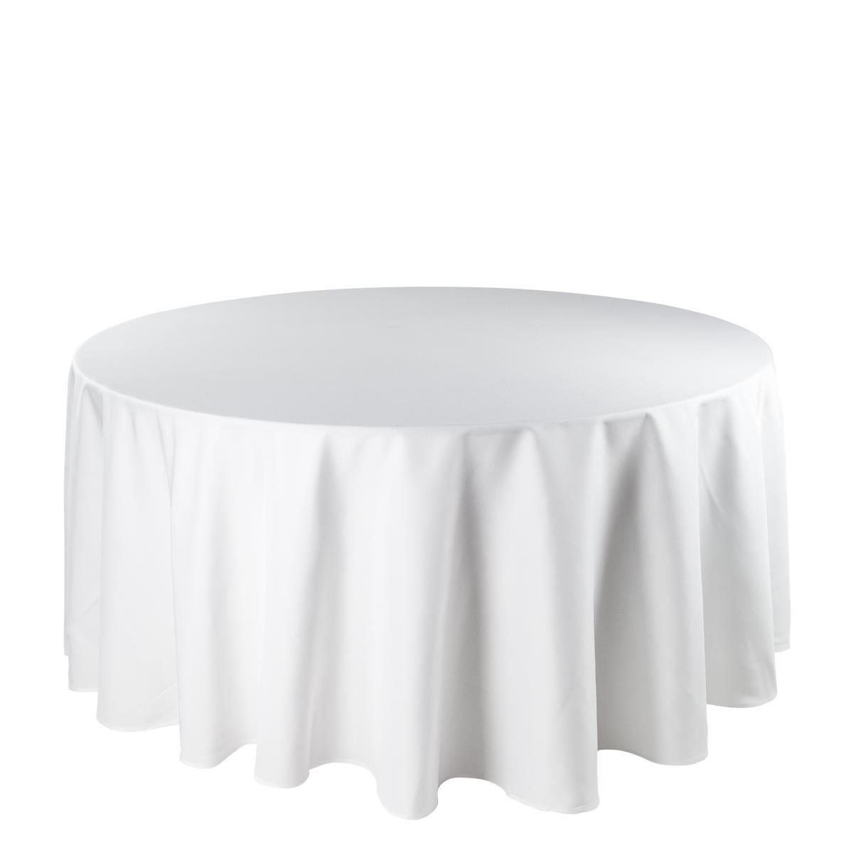 Runde Tischdecke Weiß mieten -Eventdeko-For-Rent, 11,65